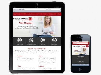 Dingley Press, responsive design