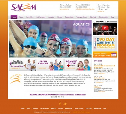 Salem Athletic Club, WordPress powered website