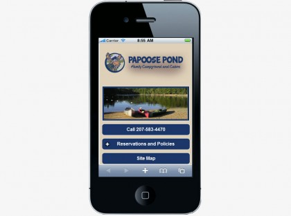 Papoose Pond Camping Mobile Website